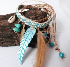 Great gift for boho lovers. Wristbands – ethnic bracelet upper arm♥POCAHONTAS♥ hippie nude – a unique product by santa-fee via en.DaWanda.com