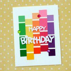 Paint Chip Birthday Card Paint Chip Birthday Card The post Paint Chip Birthday Card appeared first on Birthday. Cricut Birthday Cards, Handmade Birthday Cards, Greeting Cards Handmade, Easy Birthday Cards, Origami Birthday Card, Diy Birthday, Birthday Parties, Paint Sample Cards, Paint Chip Cards