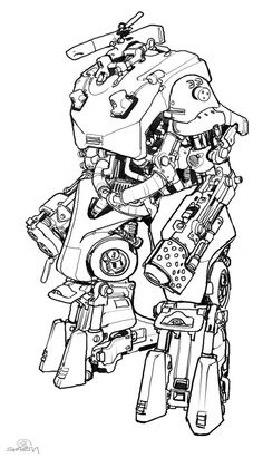 design cuts, IDsoftware Mech concept for RAGE. 2008