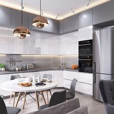 Kitchen Cabinet Design, Kitchen Decor Modern, Kitchen Modular, Kitchen Inspiration Design, Kitchen Room Design, Kitchen Furniture Design, Home Kitchens, Kitchen Layout, Modern Kitchen Design