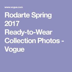 Rodarte Spring 2017 Ready-to-Wear Collection Photos - Vogue