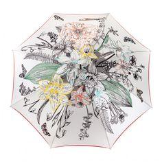 Un parapluie femme élégant et raffiné.  Inspiration naturaliste pour ce parapluie aux motifs délicats et raffinés pour aborder le printemps de façon élégante. Umbrellas, Motifs, Collection, Inspiration, Botany, Spring, Color, Accessories, Biblical Inspiration