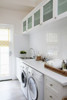 I like the connection of the sink to the drawers with the counter on top.  Also the subway tile on the wall.