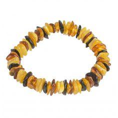 Classique bracelet tout ambre pour adulte multicolore, un bracelet parfait pour un usage quotidien. Taille ajustable.  Poids approximatif : 11 gr Taille des pierres : 10 mm