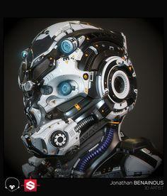 ArtStation - Sci-Fi Helmet - Real Time Version - by Jonathan BENAINOUS, Jonathan…