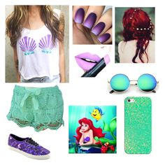 The Little Mermaid  by kelseyclark70 on Polyvore featuring polyvore, fashion, style, Vans, Casetify, Fiebiger and clothing