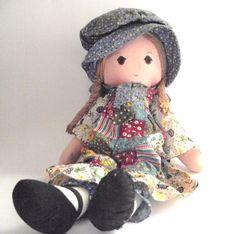 Vintage Cloth Holly Hobbie Doll van planetalissa op Etsy
