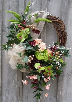 Spring Wreath Easter Wreath Victorian Wreath by NewEnglandWreath