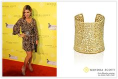 Celebrity Greta Monahan wearing Kendra Scott Fashion Designer Jewelry.    Greta is wearing the Ainsley Cuff Bracelet in Gold.    Complete the look! Check out the Carolina Filigree Earrings in Gold     Amazing videos, tips & trends on the latest in ladies diamond watches and many more. See more at http://www.ladiesfashioninfo.com