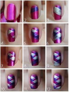 Beauty Tip: DIY Nails Art / DIY Newspaper Nail Art - Fereckels
