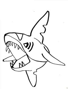 sharks with sharp teeth coloring pages for kids printable sharks coloring pages for kids