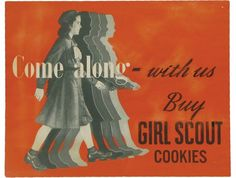 Girl Scout cookies poster, circa 1950s