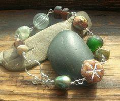 Sea Shanty Green Seas Beach Memories Bracelet by kmaylward on Etsy