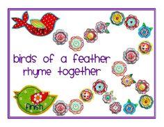 vogel van druk stofje mooi voor in de boom Birds of a Feather Rhyme Together