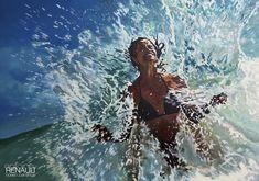 """White tigress""  2018©antoinerenault. acrylic on canvas 100x70cm"
