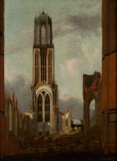 De Dom na de storm van 1 augustus 1674. Johan Kessel 1674. Centraal Museum Utrecht.