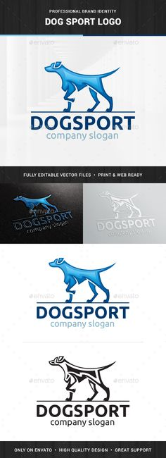 Dog Sport Logo Template, 3d, animal, black, blog, blue, business, club, company, dog, dogs, fast, gradient, hunt, hunting, loyalty, modern, pet, pointer, shop, speed, sport, store, stylish, training