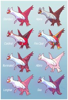 Pokemon Variants is a series of fan art depicting what a Pokemon would look like if it was of a different subspecies or breed of the said Pokemon. Pokemon Fusion Art, Mega Pokemon, Pokemon Pins, Play Pokemon, Pokemon Funny, Pokemon Memes, Cool Pokemon, Pokemon Stuff, Latios And Latias