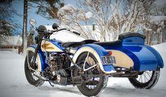 harley-davidson vl   1933 Harley Davidson VL with Winter Equipment: modified hand clutch ...