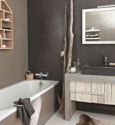 douche en tadelakt et-enduit-decoratif-salle-de-bains- | douche ... - Enduit Mur Salle De Bain
