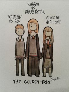 Kaitlyn, Sharon and Elise as the Golden Trio