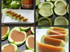 Carmel Apple Shots Recipe ~ I don't know about this, but it sounds good