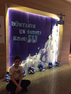 Water Day, Board Decoration, Preschool Education, Classroom Crafts, Reggio Emilia, Save Water, Pre School, Special Day, Diy And Crafts