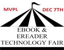 """December 7, """" Drop by our ebook fair to try before you buy, and get some helpful tips. We'll be showcasing a variety of popular ereaders, and staff will demonstrate how to download free ebooks and audiobooks to your ereader, mobile device or computer.   Representatives from Best Buy and Google will also be on hand to give product demonstrations. We will also be launching our new tablet loan program. Be one of the first to check out a Nexus 7 tablet!"""" -Mountain View Public Library website."""