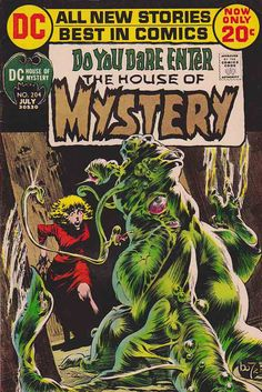 House of Mystery started out as a horror anthology, featuring tales of the supernatural as well as supernatural-themed mystery stories. http://www.rarecomicbooks.fashionablewebs.com/House%20of%20Mystery.html