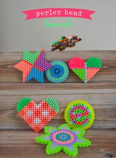 #DIY perler bead brooch. I use these for winter projects, but they are great for any time of year.