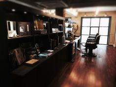 "Cool BarberShop in Korea ""Herr"" - love the interior!"