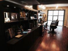 "Cool BarberShop in Korea ""Herr"" - love the interior!"