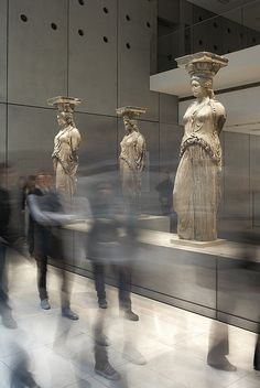Visit the new Acropolis Museum in Athens, one of the most important contemporary works of architecture in Greece. It houses priceless finds from the Acropolis monuments.gr -- Photo by Giorgos Vitsaropoulos My Athens, Athens Greece, Ancient Greek Art, Ancient Greece, Mykonos, Parthenon, Greece Travel, Art And Architecture, Oeuvre D'art