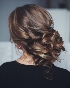 Messy wedding hair updo More