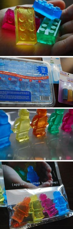 Lego Glycerin Soap | Click Pic for 22 DIY Christmas Gifts for Kids to Make | Handmade Christmas Gifts for Boys