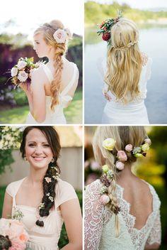 Sugestões de penteados para as noivas