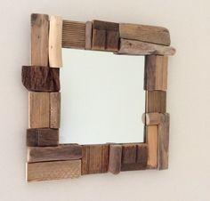1000 id es sur le th me miroir en bois flott sur - Comment fabriquer un miroir en bois flotte ...