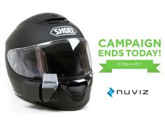 The first HEAD-UP DISPLAY for MOTORCYCLE HELMETS by NUVIZ — Kickstarter