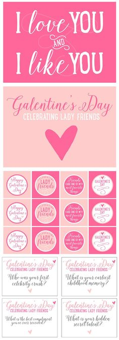 Free Galentine Party Printables. Such a fun and creative party idea that both singles AND married gal pals can attend!