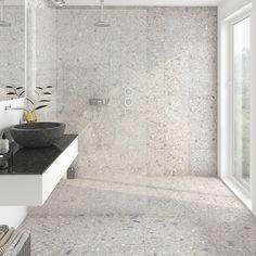 Terrazzo Retro Hex, Klinker, Grå ljus, cm - home/hem Home Room Design, Terrazzo, Bathroom Wallpaper, Bathroom Design Inspiration, Bathroom Inspiration Decor, Bathroom, Flooring, Bathroom Flooring, Tile Bathroom
