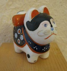 """Ceramic Inu Hariko. 2 1/2""""."""