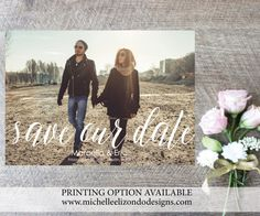 Photo Save-the-Date-Printable Invitations-5x7 by MElizondoDesigns