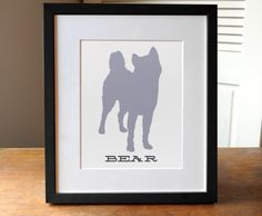 Dog Gift Custom Dog Art  Custom Dog Print  Dog Name by AGierDesign