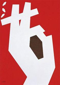 An anti-smoking poster designed by Abram Games.