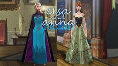 Anna and Elsa coronation dress at via Sims 4 Updates Sims 4 Game Mods, Sims 4 Mods, Sims 3, Elsa Coronation Dress, Frozen Elsa Dress, Disney Princess Outfits, Disney Outfits, Disney Princesses, Princess And The Pauper