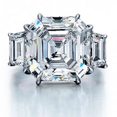 Vintage Asscher Cut Engagement Ring--- This is amazing