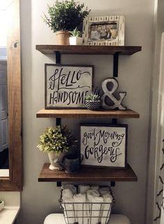 Best Rustic Bathroom Decor Ideas to Attempt in Your Home - Rustic farmhouse. - Best Rustic Bathroom Decor Ideas to Attempt in Your Home – Rustic farmhouse shelves – - Rustic Bathroom Decor, Farmhouse Decor, Bathroom Ideas, Farmhouse Ideas, Modern Farmhouse, Farmhouse Design, Farmhouse Style, Bathroom Inspiration, Farmhouse Interior