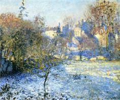 Frost - Claude Monet, (1875), Oil on canvas - Cityscape