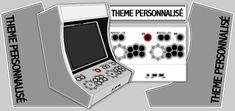 Kit Bois/Plexi pour l' auto-construction de borne d'arcade type bartop basé sur une architecture PC avec émulateur Mame
