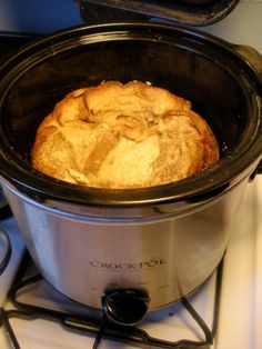 BRUNCH: Crock Pot French Toast Revisited.  LMW 7/26/14:    Be sure to read comments re: overcooking, check the temp on your crockpot, or do a daytime trial run before just leaving it to cook all night.